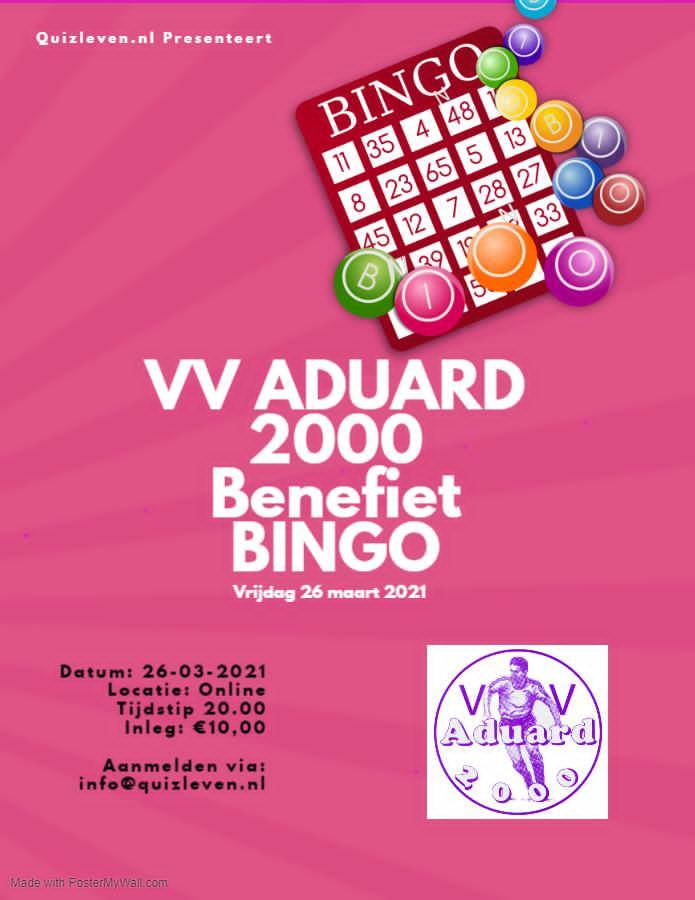 Bingo VV Aduard 2000 26 maart 2021